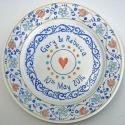 10 Personalised wedding plate