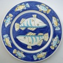 13 Blue fish plate