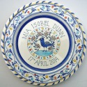 2 Personalised baby plate