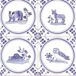 4 Delft and pattern tiles