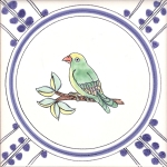 Colour bird tiles