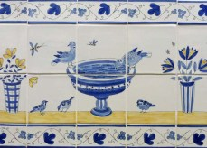 7 Bird tile panels