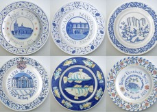 9 Hand painted Plates