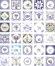 A Variety of Delft tiles