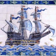 Bahamas ship tile panel