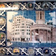 Broadcasting House tile panel
