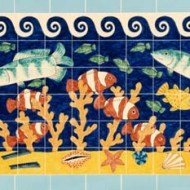 Clown fish tile panel