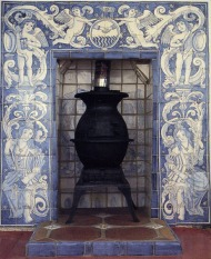 Delft fireplace