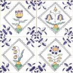 Delft Flower tiles