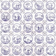 Delft people tiles