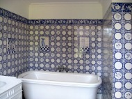 Delft tiled bathroom