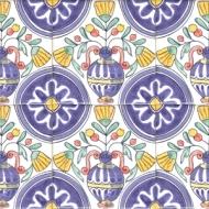 Delft vase tiles