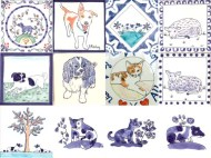 dog and animal tiles