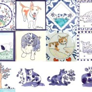 dog and animal tiles