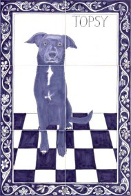 Topsy Dog tile panel
