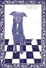 Topsy Dog tile panel
