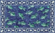 Fish tile splashback