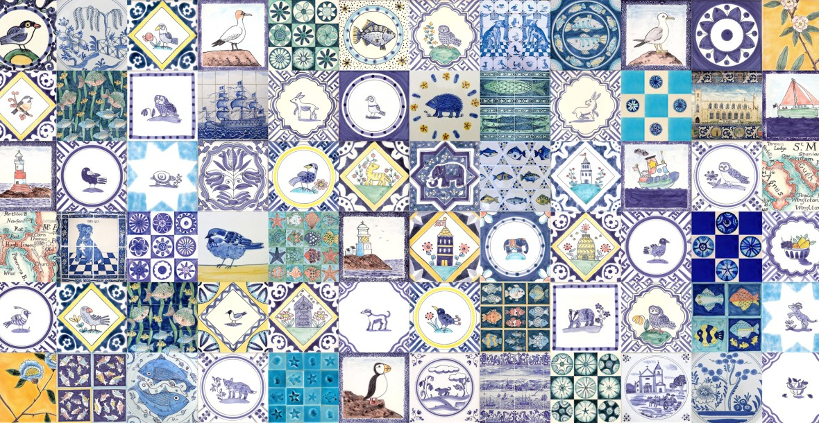 Hand painted Delft tiles