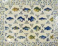 hexagon fish tiles