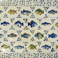hexagon fish tiles