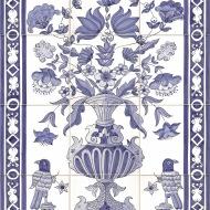 Birds & vase tile panel 2
