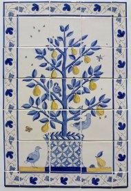 Pear tree tile panel