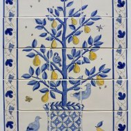 Pear tree tile panel