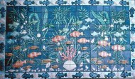 Relief fish tile panel