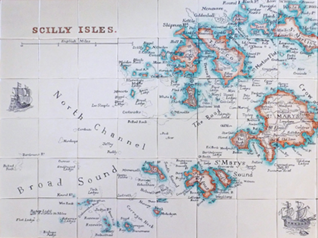 Scilly Isles tile panel