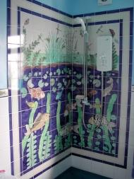 Pondlife shower tiles