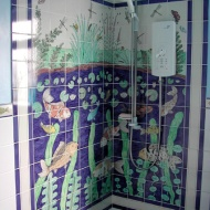 Pondlife shower tiles