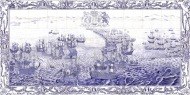 Spanish Armada tile panel
