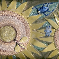 Sunflower tile panel detail