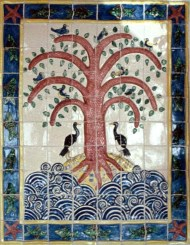 Tree of life tile panel