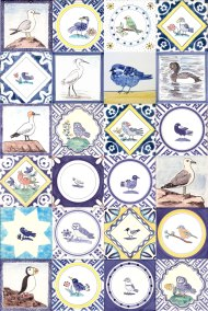 Variety of Delft Bird tiles