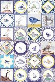 Variety of Delft Bird tiles