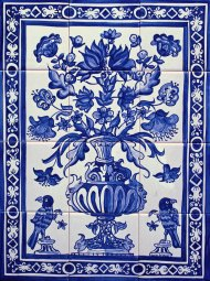 Delft Vase and Birds tile panel 1