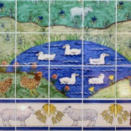Waitrose animal tile panel