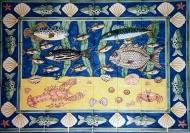 Waitrose fish tile panel 3