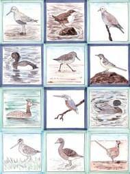 Water Bird tiles