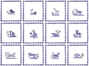 Delft animal tiles