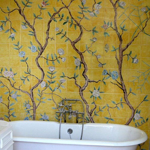 Chinoiserie wallpaper tiles