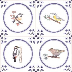 colour bird tiles