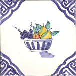 Delft fruit and flowers 9