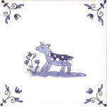 Delft Animal tile 12
