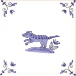 Delft Animal tile 13