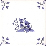 Delft Animal tile 2
