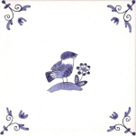 Delft Animal tile 20