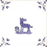 Delft Animal tile 23