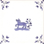 Delft Animal tile 24